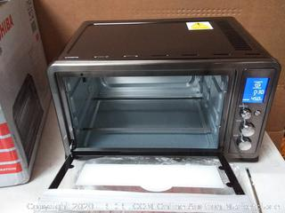 Convection Toaster Oven Black 1500W Digital Control Display