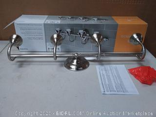 Portfolio D&C 4-Light 30.12-in Brushed nickel