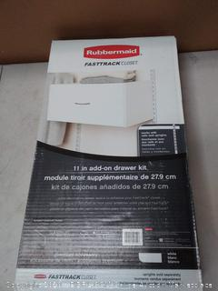 Rubbermaid FastTrack closet 11 in inch add on drawer kit
