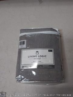 living logic energy Warwick solid gray 42in x 95 inch blackout curtain