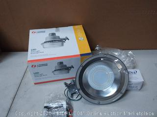 Lithonia Lighting 4700-Lumen Gray Integrated LED Area Light at(crack on back of light)