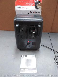 OmniHeat 1500-Watt Utility Fan Utility Electric Space Heater (powers on)