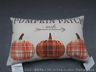 curated collection pumpkin patch pillow