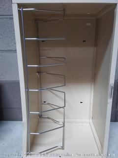 cabinet with a very visible dent
