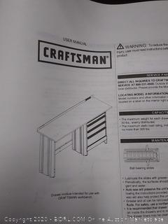 Craftsman 4 drawer workbench modular(missing 4 tracks and one side piece)
