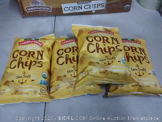 Garden of Eatin 8 oz bags sea salt corn chips X4