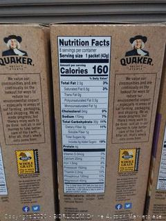Quaker Instant Oatmeal - Gluten Free Maple Sugar 12.10 oz Giantx3