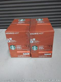 Starbucks Pike Place Roast Coffee K-Cup Pods Medium Roast Coffee Pods for Keurig Brewers 4 Boxes (96 Pods)