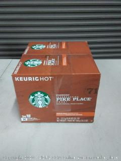 Starbucks Pike Place Roast Coffee K-Cup Pods Medium Roast Coffee Pods for Keurig Brewers 2 Boxes (96 Pods)