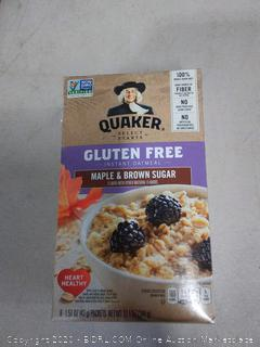 Quaker gluten-free Maple and brown sugar oatmeal 3 count