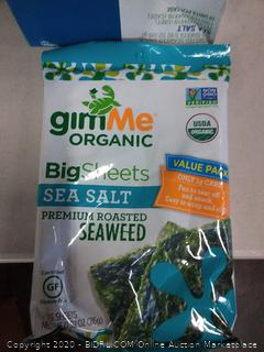 Give me organic. roasted seaweed snack ten count