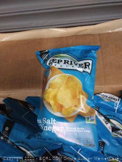 DEEP RIVER SALT & VINEGAR KETTLE CHIPS 2 OZ BAG 24 count