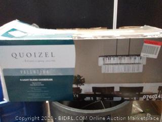 Quoizel Valentina 4 light Island Chandelier (store display) online $129
