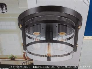 Globe Electric 60417 Wexford 3-Light Flush Mount Ceiling Light(Factory Sealed) COME PREVIEW!!!! (online $56)