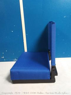 Grandstand Comfort Seats By Flash With Ultra-Padded Seat In Blue (online $55)