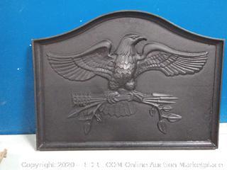 American Eagle Cast iron fireback (online $194)