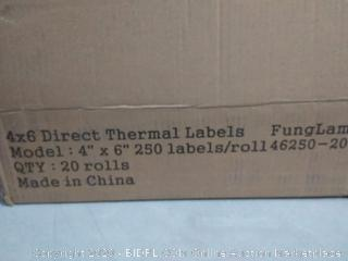 FungLam 4x6 Direct Thermal Shipping Labels, 20 Rolls with 250 Labels/Roll, 1'' Core (online $47)