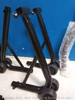 Motorcycle front and rear stand (online $65)