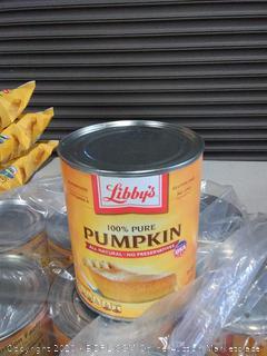 Libby's 100% pure pumpkin all natural no preservatives X6