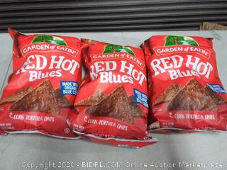 Garden of Eatin red-hot blue corn tortilla chips X3