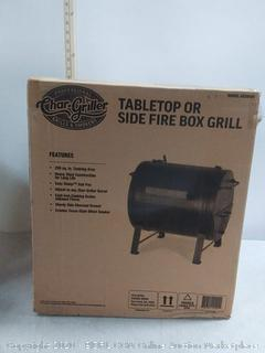 professional Char-Griller grills and smokers table top or side fire box Grill