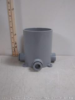 CANTEX Floor Box Base,PVC,Round, 90.0 cu. in.