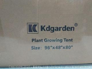 "kdgarden 96""x48""x80"" Mylar Hydroponic Grow Tent for Indoor Plant Growing Heavy Duty 600D Highly Reflective and Lightproof Portable Closet Grow Tent Room - 8'x4'x6.6' (online $164)"