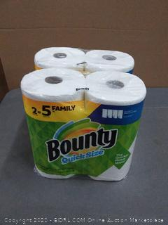 Bounty quick size paper towel 4 rolls
