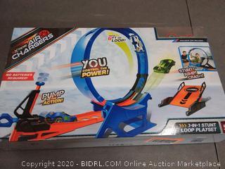 Air Chargers 647284 3-N-1 Stunt Loop Set with Air Pump & Exclusive Car