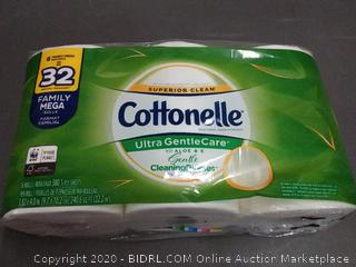 Cottonelle Ultra gentlecare with a low toilet paper 6 rolls