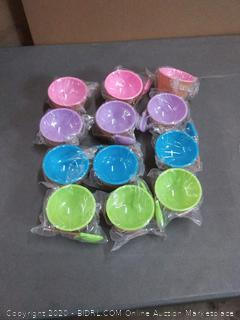 greenco ice cream bowls with spoons 12 pack