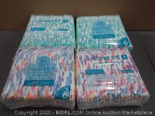 honest 88 diapers size 6