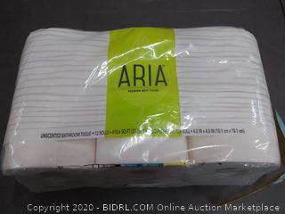 Aria premium bath tissue 12 rolls