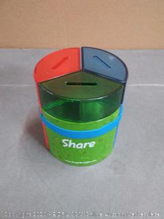 Save Spend Share Money Jar   Three-Part Money Tin