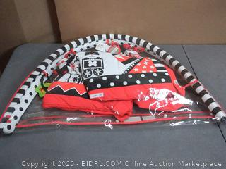 black white and red activity 3D play mat and gym