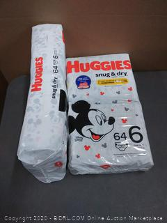 Huggies 128 diapers size 6