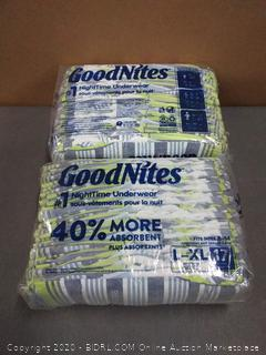 Good night large/XL diapers 34 count