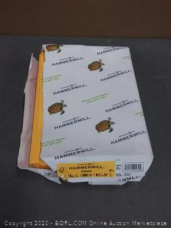 hammermill colors 500 sheets dark yellow