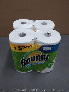 Bounty quick size paper towel 4 rolls