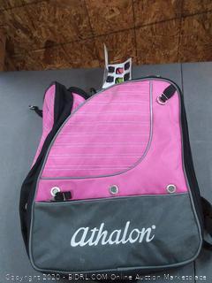 Athlon Triathlon boot bag pink and black