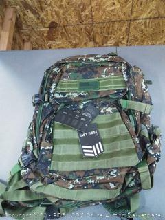 East illest camo American flag backpack