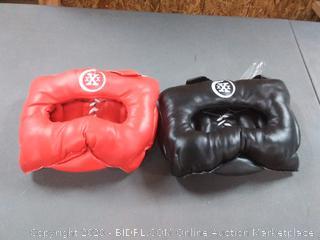 Set of 2 boxing headgear.