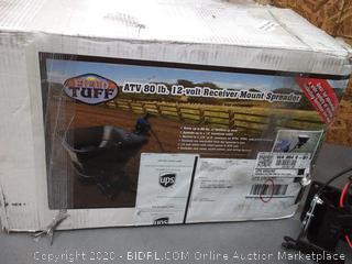 Tuff ATV 80 lb 12 volt receiver Mount spreader