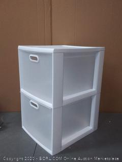 sterlite two-tier storage cubby