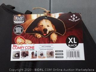 All Four Paws Comfy Cone Dog Collar BLACK XLARGE 21-25