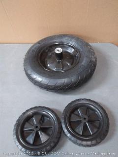 wheelbarrow tire Plus Set of Dolly tires.