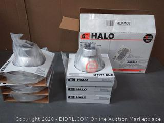 pack of 6 6 inch Halo recessed trim low profile lights