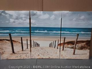 Beach picture Coast for bedroom 16 x 26 X3 pieces