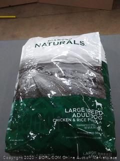 Diamond Naturals large breed adult dog food chicken and rice formula