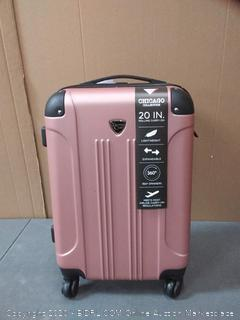 Travelers Club 20 in Rolling carry-on Rose and black
